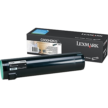 Lexmark C930H2KG Black Toner Cartridge, High Yield