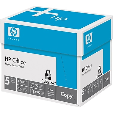 HP Office Paper, 8 1/2in. x 11in. , Half Case