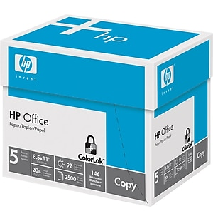 HP Office Paper, 8 1/2' x 11' , Half Case