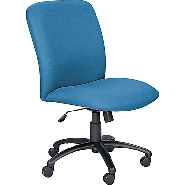 Safco Uber™ Big and Tall Fabric High-Back Managers Chair, Blue