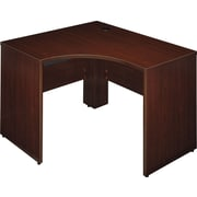 Bush Quantum 48W x 42D RH Corner Desk, Harvest Cherry, Fully Assembled
