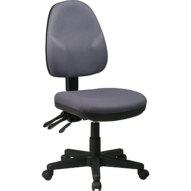 Office Star Fabric Ergonomic Armless Task Chair, Grey