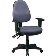 Office Star Ergonomic Fabric Task Chair with Adjustable Arms, Grey