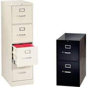 "HON® H320 Series 26 1/2"" Deep Commercial 2 and 4 Drawer Vertical File Cabinets"