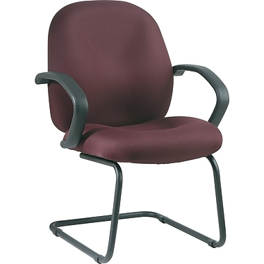 Office Star Distinctive Fabric Guest Chair, Burgundy