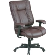 Office Star 9382 High-Back Leather Manager's Chair, Burgundy