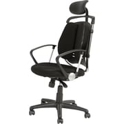 Balt Black Fabric Executive Chair, Fixed Arm
