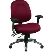 Office Star ProLine II Mid-Back Ergonomic Fabric Task Chair, Adjustable Arms, Burgundy