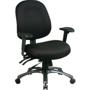 Office Star™ Pro-Line II™ Fabric Ergonomic Mid-Back Task Chair, Black
