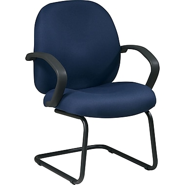 Office Star Distinctive Fabric Guest Chair, Blue