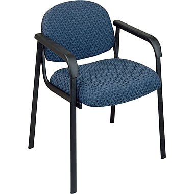 Office Star  Guest Chair with Steel Frame, Cadet Blue