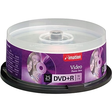 Imation 25/Pack 4.7GB DVD+R, Spindle