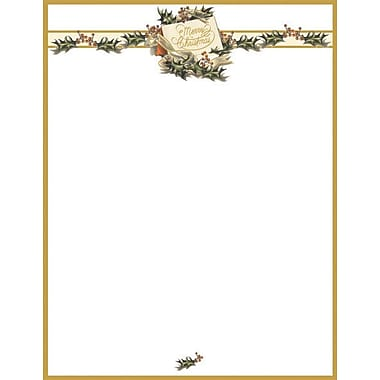 Great Papers® Vintage Christmas Holly Stationery