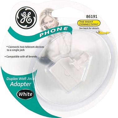 GE 2-Jack Phone Line Splitter (White)