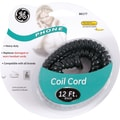 GE 12' Coil Phone Cord (Black)