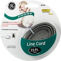 GE 15' Line Phone Cord (Grey)