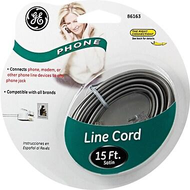GE 15' Line Phone Cord (Grey)