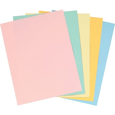 Staples® Pastel Colored Copy Paper, 8 1/2in. x 11in., Assorted Colors, 400 Pack