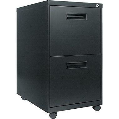 Alera 23in. Deep, 2  Drawer Mobile Vertical File Cabinet, Black
