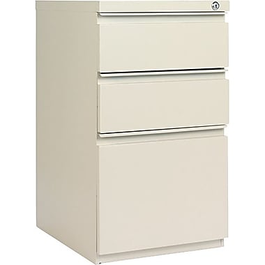 Alera 19in. Deep, 3 Drawer Full Length Pull Mobile Vertical File Cabinet, Putty