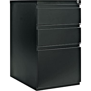 Alera 23in. Deep, 3 Drawer Full Length Pull Mobile Vertical File Cabinet, Black