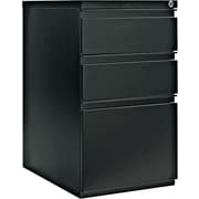 Alera 23 Deep, 3 Drawer Full Length Pull Mobile Vertical File Cabinet, Black