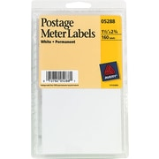 "Postage Meter Labels, 1-1/2""x2-3/4"", 160 Ct, White"