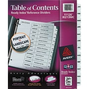 "Avery® Ready Index® Table of Contents Dividers, Jan-Dec Tab, White, 8 1/2"" x 11"", 1/St"
