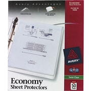 """Avery """"Non-Stick"""" Top-Loading Sheet Protectors, Standard-Weight, Semi-Clear, 50/Pk"""