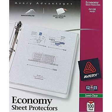 Avery Semi-Clear Economy Weight Sheet Protectors, 100/Pack