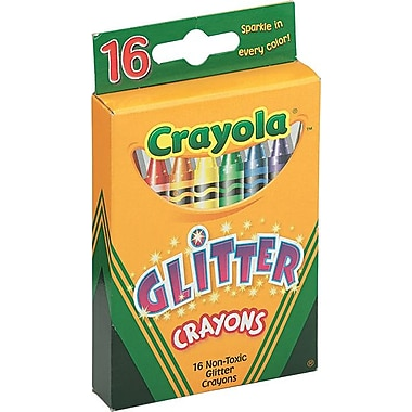 Crayola® Glitter Crayons, 16/Pack