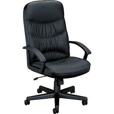 Basyx™ Leather Executive High Back Swivel/Tilt Chair, Black