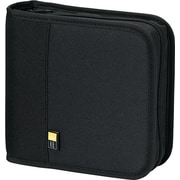 Nylon CD/DVD Binder, Capacity 24, Black