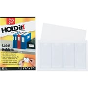 Cardinal Holdit® Self-Adhesive Binder Label Holder for 2 Binders, 3 L x 1 3/8 W