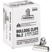 X-ACTO #2 Bulldog Clips, 2.25 Inches, Box of 36