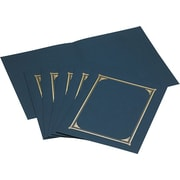 "Geographics Linen Certificate Covers, 12-1/2"" x 9-3/4"", 6/Pack, Navy"