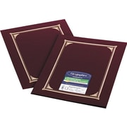 "Geographics Linen Certificate Covers, 12-1/2"" x 9-3/4"", 6/Pack, Burgundy"