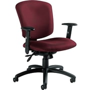 Global Supra X Series Polypropylene Medium Back Multi-Function Swivel/Tilt Chair, Burgundy