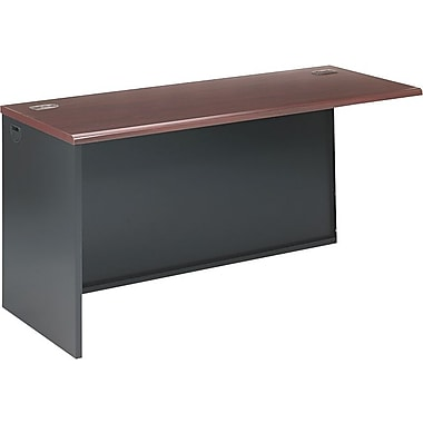 HON 38000 Series 60in. Left Return, Mahogany/Charcoal