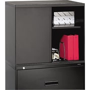 HON® Overfile Storage Cabinet for 36 Lateral Files, Black