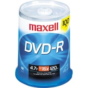Maxell DVD-R, 4.7GB, 120-Minute, 100/Pk