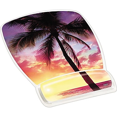 3M™ Designer Gel Mouse Pads with Wrist Rest, Sunrise Design