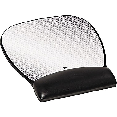 3M Precise Leatherette Mouse Pad with Standard Wrist Rest, 8-3/4 x 9-1/4
