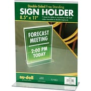 "NuDell™ T-Shaped Sign Holder, Clear,  8-1/2"" x 11"""