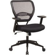 Office Star SPACE Air Grid Deluxe Mesh Task Chair, Adjustable Arms, Black
