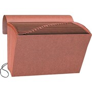 "Smead Leather-Like Expanding File with Flap and Elastic Cord, A-Z Index, 12"" x 10"""