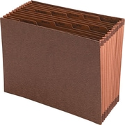 "Smead Leather-Like Open Top Jan-Dec Index Expanding File, 12 Pockets, Redrope, Letter Size 12"" x 10"""