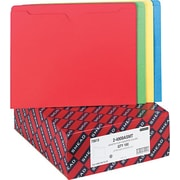 Smead Assorted Color Recycled File Jackets, Double-Ply Tab, Flat, Letter, 100/Bx