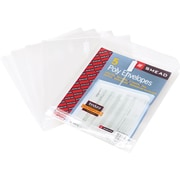 "Smead®  Poly Envelope, 1-1/4"" Expansion, Hook-and-Loop Closure, Top Load, Letter Size, Clear, 5 per Pack (89670)"