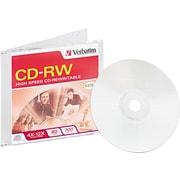 Verbatim CD-RW, 700MB, 80 Minutes, 4X-12X High Speed, 1/Pk